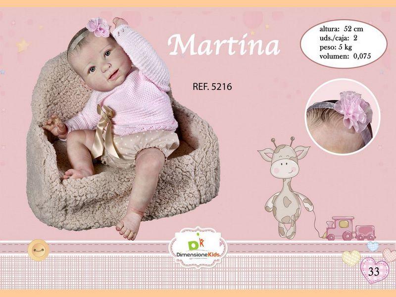 BAMBOLA MARTINA PELO SPECIALE MAGLIA LANA ROSA 52 CMS 2.500 GR C/IND