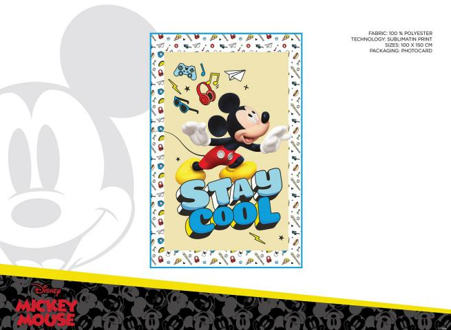 COPERTA IN PILE 100X150 CM 100% POLIESTERE POLYBAG MICKEY