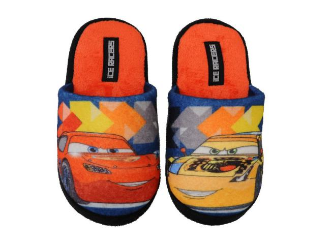 PANTOFOLE 100% POLYESTER ROSSO TG 31/32 CARS
