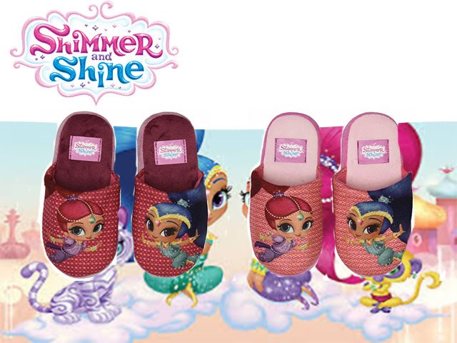 PANTOFOLE 100% POLYESTER (2 COLORI TG.25/32) SHIMMER&SHINE