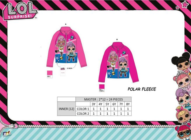 FELPA ZIP TG 3/8A POLAR FLEECE 210 GSM LOL SURPRISE