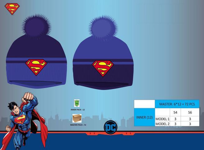 CAPPELLO PON PON TG 52/54 SUPERMAN