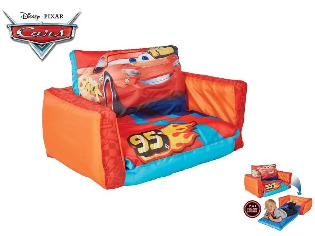Flip Out Mini Divano - lettino e divano gonfiabile 2 in 1 per bambini CARS