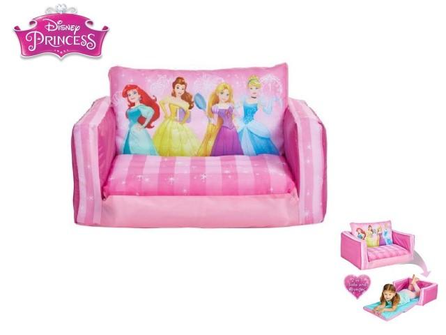 Flip Out Mini Divano - lettino e divano gonfiabile 2 in 1 per bambiniPRINCESS