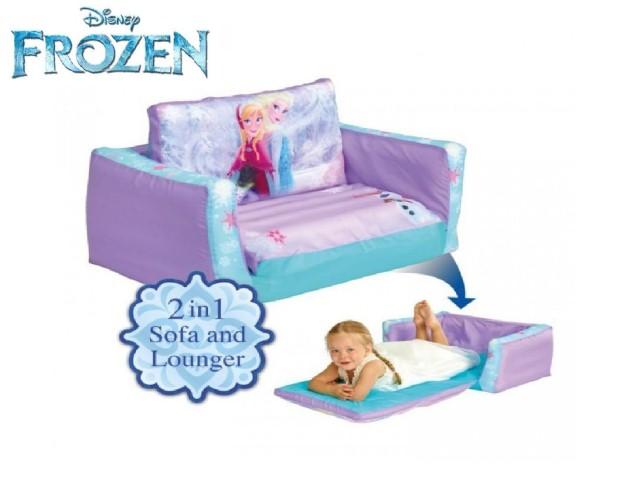 Flip Out Mini Divano - lettino e divano gonfiabile 2 in 1 per bambini FROZEN