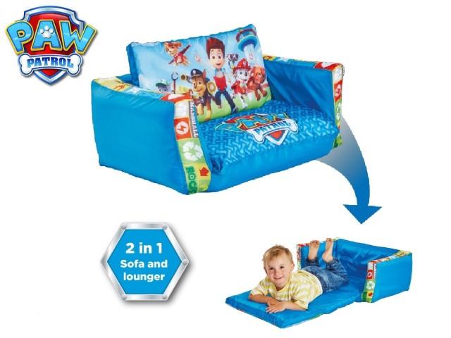 Flip Out Mini Divano - lettino e divano gonfiabile 2 in 1 per bambiniPAW PATROL
