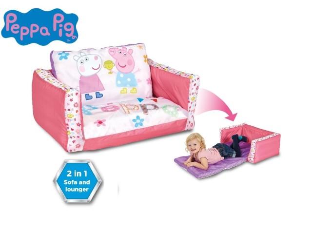 Flip Out Mini Divano - lettino e divano gonfiabile 2 in 1 per bambini PEPPA PIG