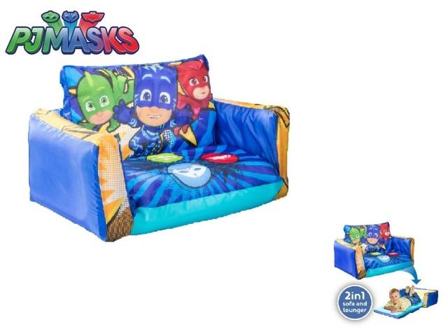 Flip Out Mini Divano - lettino e divano gonfiabile 2 in 1 per bambini PJ MASKS