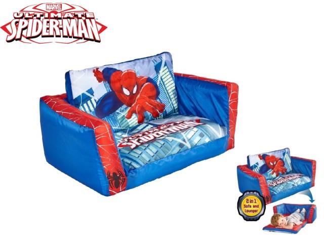 Flip Out Mini Divano - lettino e divano gonfiabile 2 in 1 per bambini SPIDERMAN
