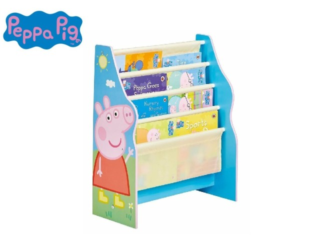 Libreria a fasce in tessuto per bambini - contenitore di libri da cameretta PEPPA PIG