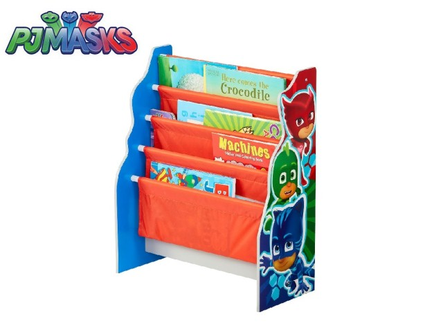 Libreria a fasce in tessuto per bambini - contenitore di libri da cameretta PJ MASKS