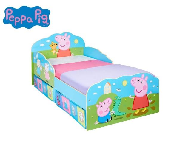 Lettino per bambini con contenitore sottoletto PEPPA PIG