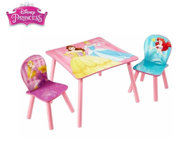 Tavolo per bambini con 2 sediePRINCESS