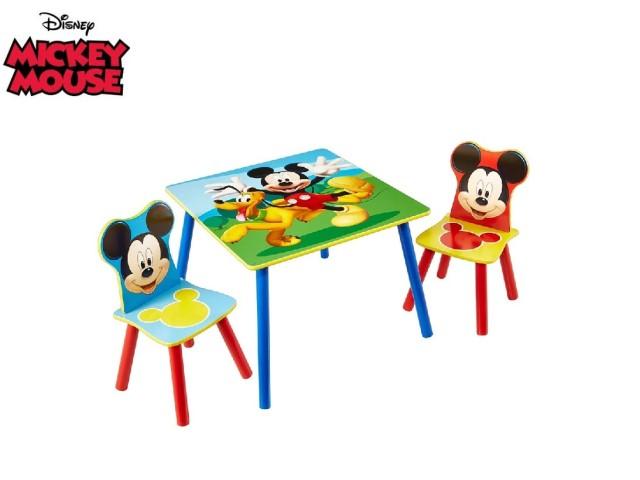 Tavolo per bambini con 2 sedieMICKEY