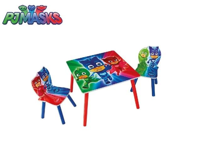 Tavolo per bambini con 2 sedie PJ MASKS