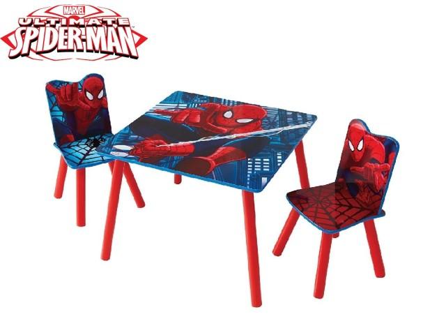 Tavolo per bambini con 2 sedie SPIDERMAN